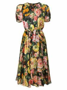 Dolce & Gabbana floral flared dress - Black