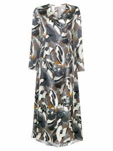 Fabiana Filippi floral wrap dress - Grey