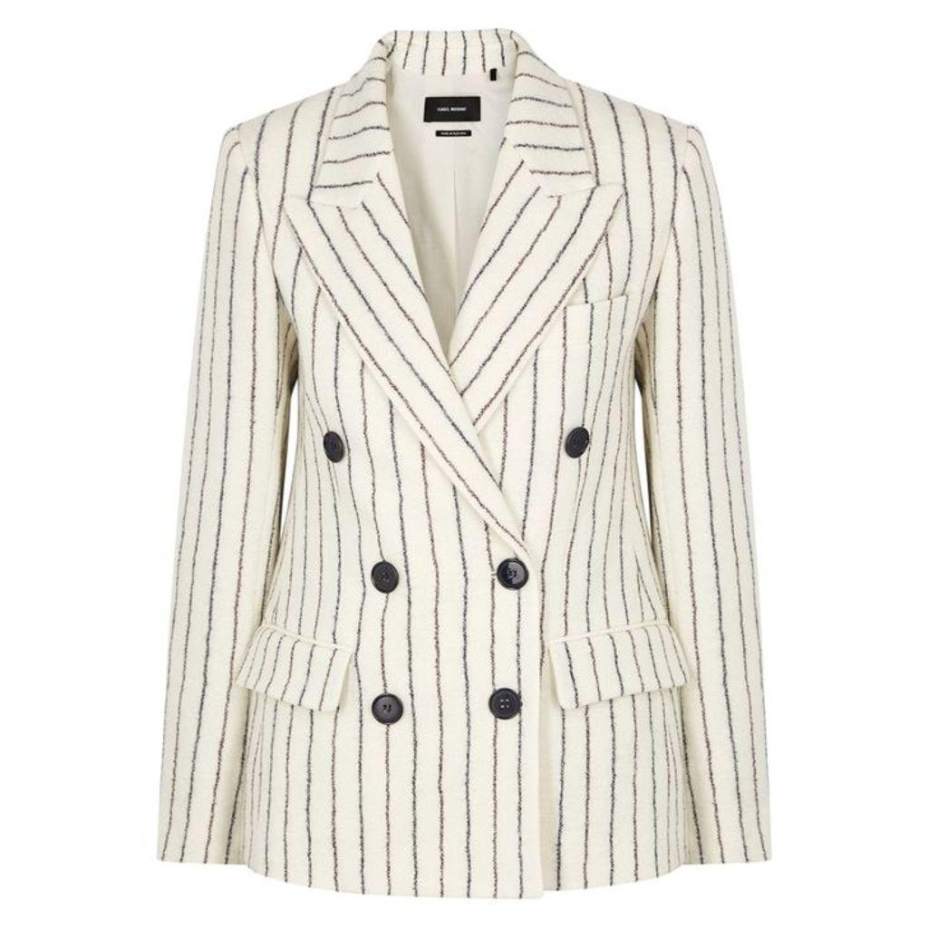 Isabel Marant Eleigh Striped Wool-blend Blazer