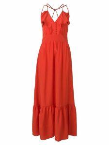 Vanessa Bruno ruffle trim maxi dress - Red