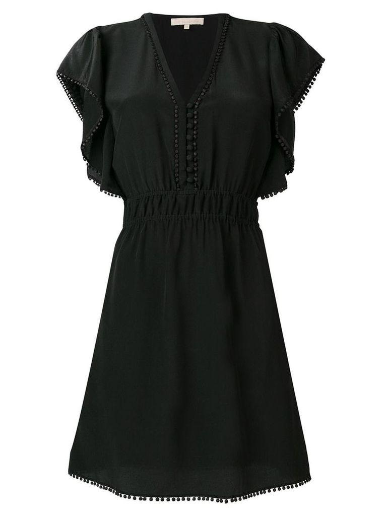 Vanessa Bruno v-neck ruffle trim dress - Black