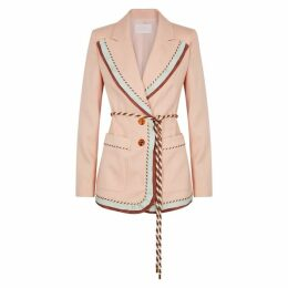 Peter Pilotto Pink Contrast-trimmed Blazer