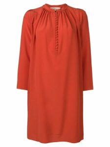 Vanessa Bruno mandarin collar shift dress - Red