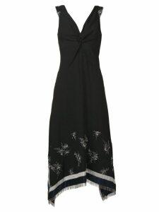 3.1 Phillip Lim fringe-hem V-neck dress - Black