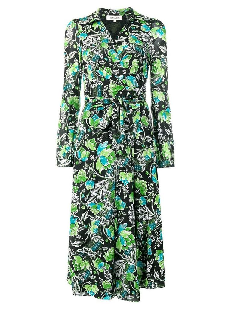 Dvf Diane Von Furstenberg flower print dress - Black