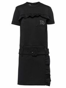 Prada Technical jersey dress with ruching - Black