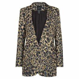 Smythe Leopard-print Camouflage Blazer