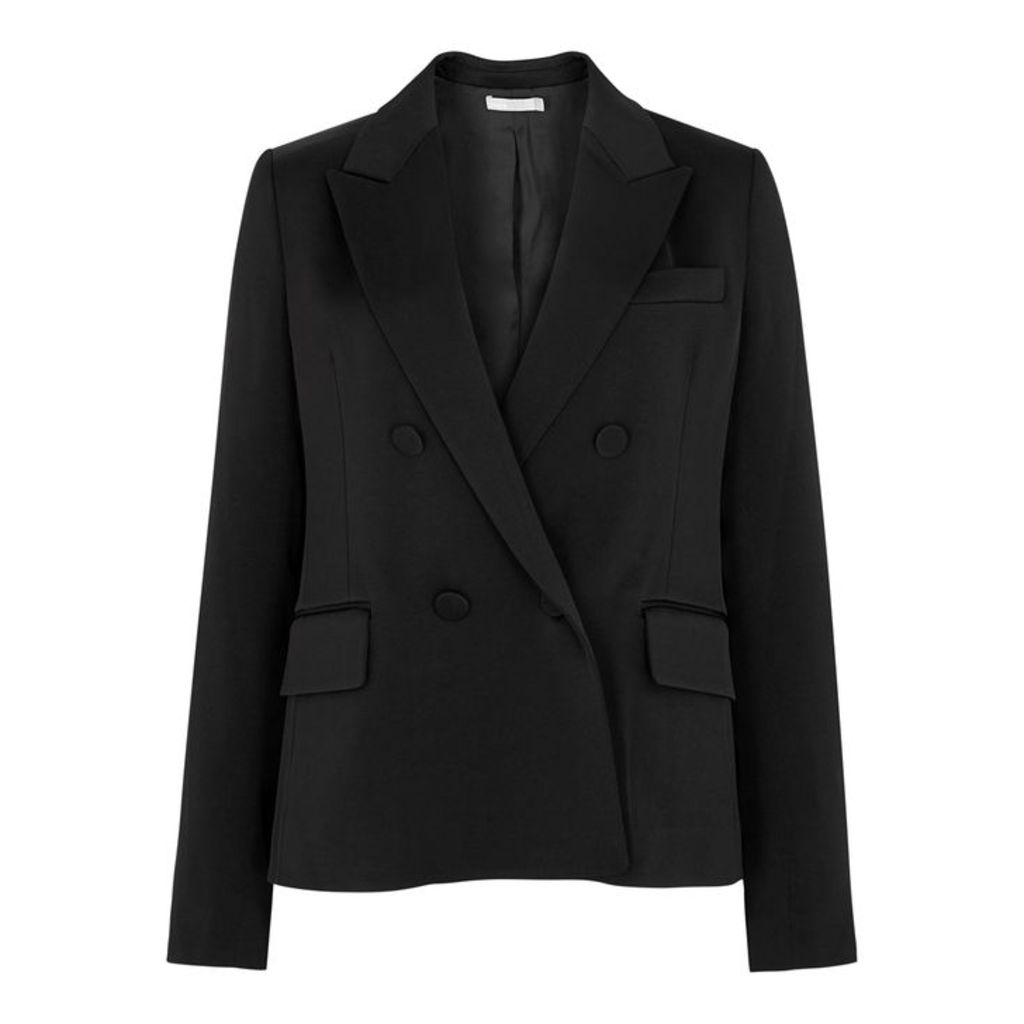 Vince Black Double-breasted Blazer