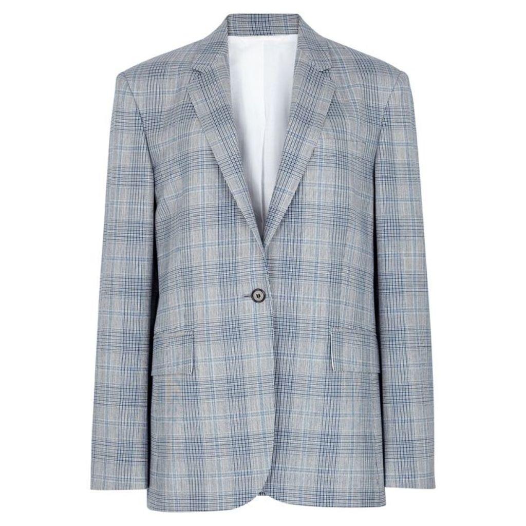 Calvin Klein 205W39NYC Grey Checked Wool Blazer