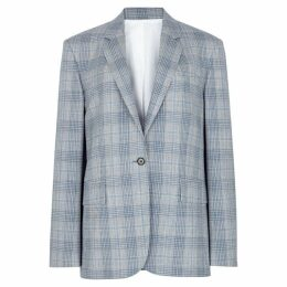 Calvin Klein 205W39NYC Grey Checked Wool Blazer