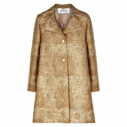 Valentino Gold Brocade Coat
