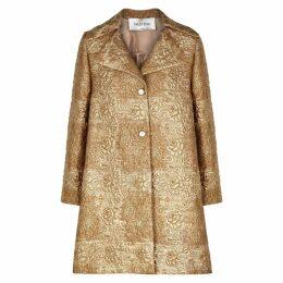 Valentino Gold Brocade Coat
