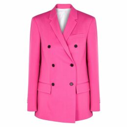 Calvin Klein 205W39NYC Fuschia Double-breasted Wool Blazer