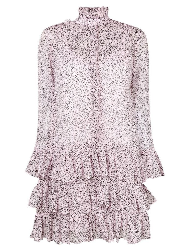 Zadig & Voltaire floral print tiered dress - Pink