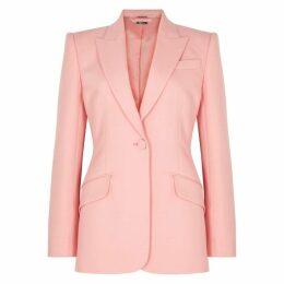Alexander McQueen Pink Wool-blend Blazer
