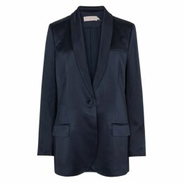 Tory Burch Navy Satin Blazer