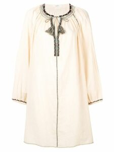 Isabel Marant Étoile embroidered front dress - Neutrals