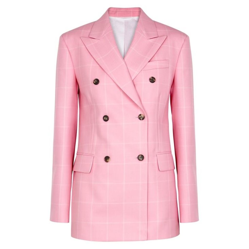 Calvin Klein 205W39NYC Pink Checked Wool Blazer