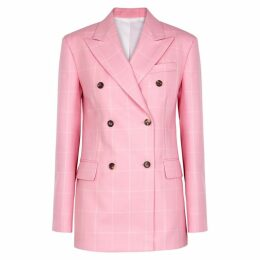 Calvin Klein 205W39NYC Pink Checked Wool Blazer