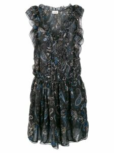 Zadig & Voltaire paisley print ruffle dress - Black