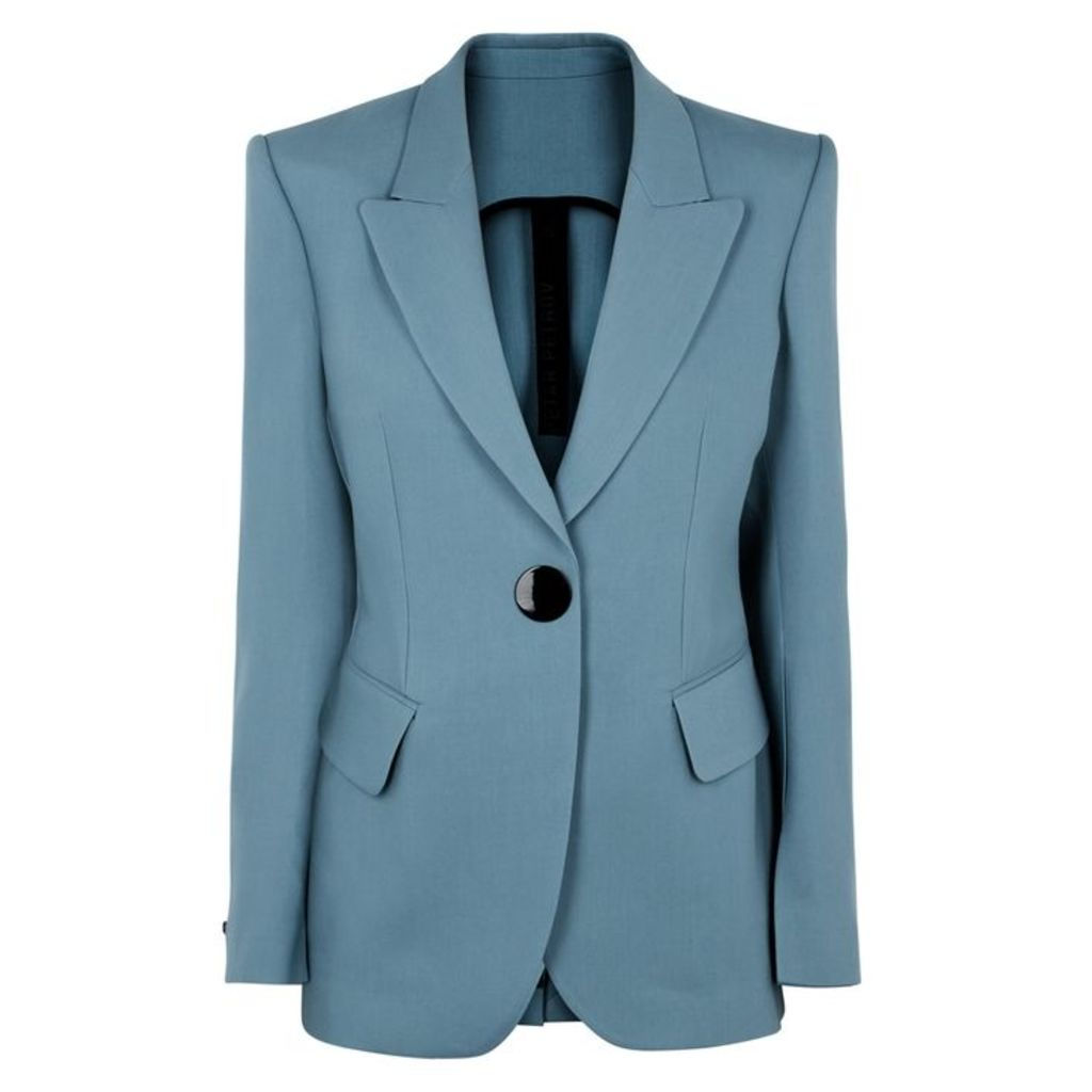Petar Petrov Jovan Blue Wool-blend Blazer