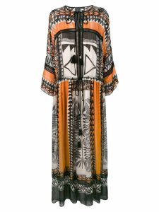 Alberta Ferretti boho maxi dress - Black