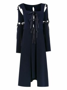 Gloria Coelho midi panelled dress - Blue