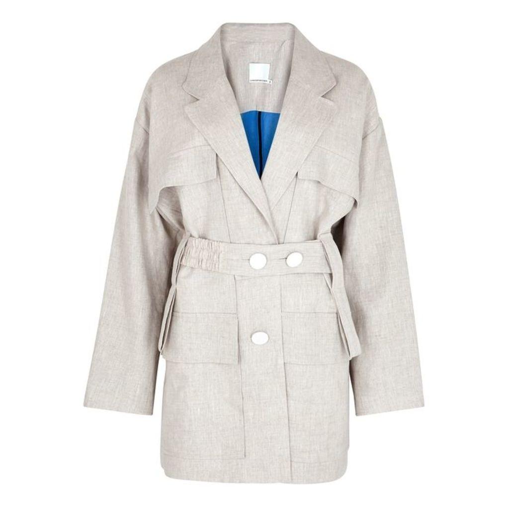 Christopher Esber Stone Linen Jacket