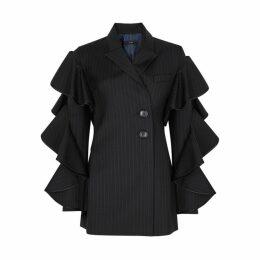 Ellery Babitz Pinstriped Wool-blend Blazer