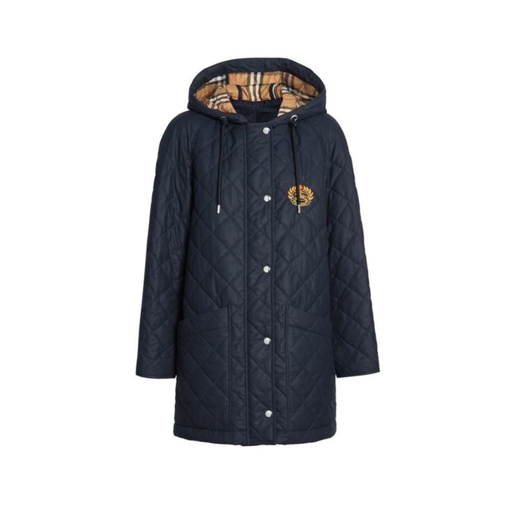 Burberry Diamond Quilted Oversized Hooded Parka