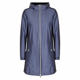 Herno Blue Reversible Satin Shell Parka