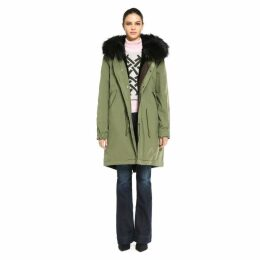 Mr & Mrs Italy Army Parka Rabbit Raccoon Fur