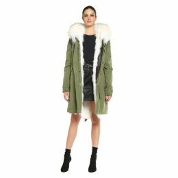 Mr & Mrs Italy Army Parka Patch Fox Raccoon Fur