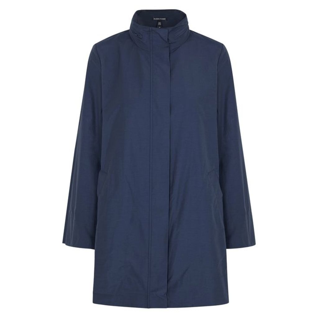 EILEEN FISHER Navy Shell Parka