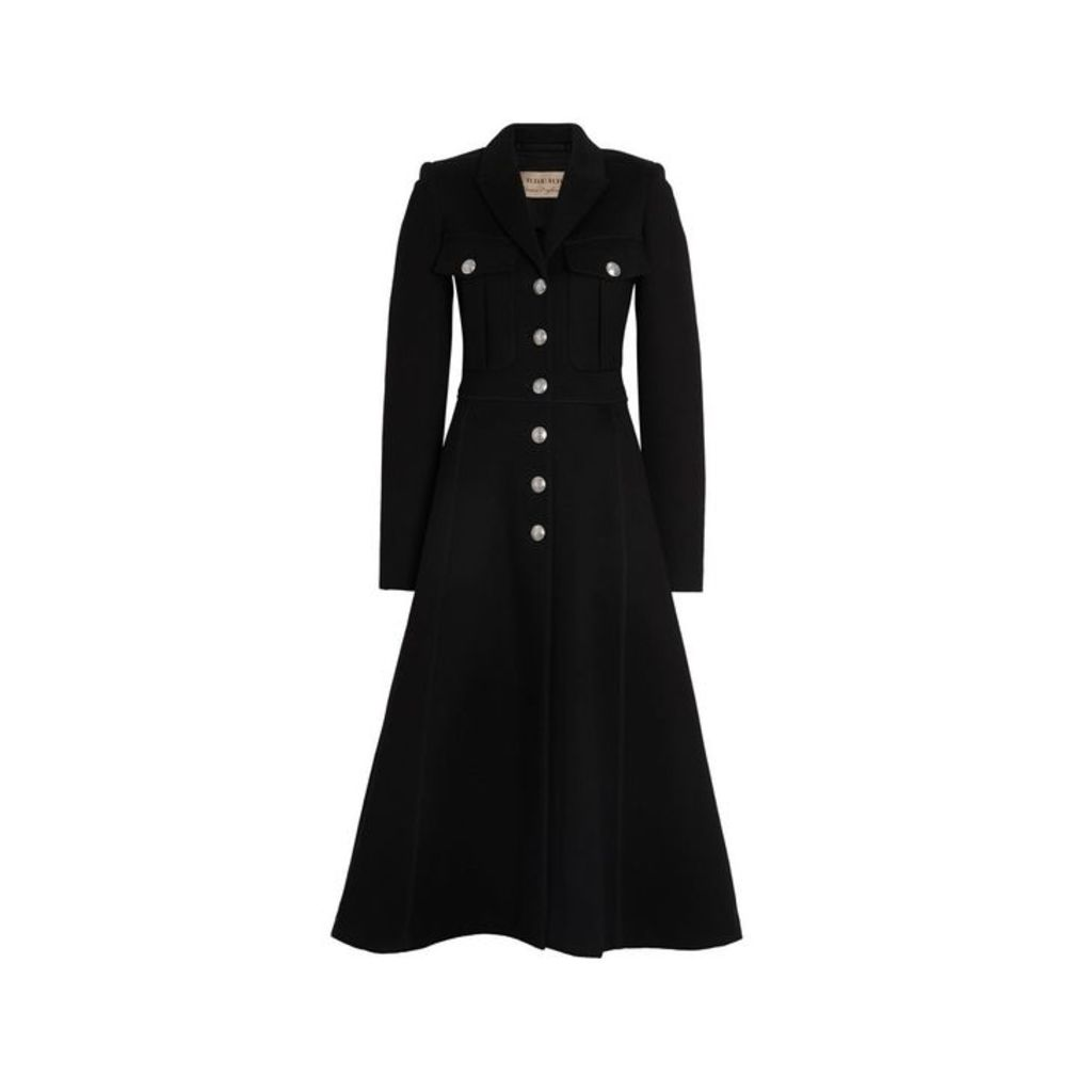 Burberry Bonded Cotton Blend Jersey Tailored Coat