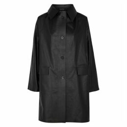 KASSL Black Coated Cotton-blend Jacket