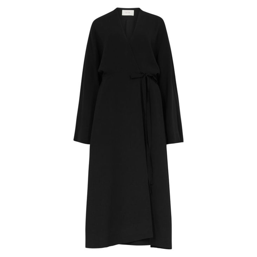 THE ROW Doree Black Oversized Coat