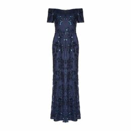 Adrianna Papell Sequin Long Gown