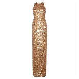 Galvan Column Copper Sequinned Gown
