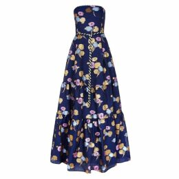 Peter Pilotto Blue Jacquard Organza Gown