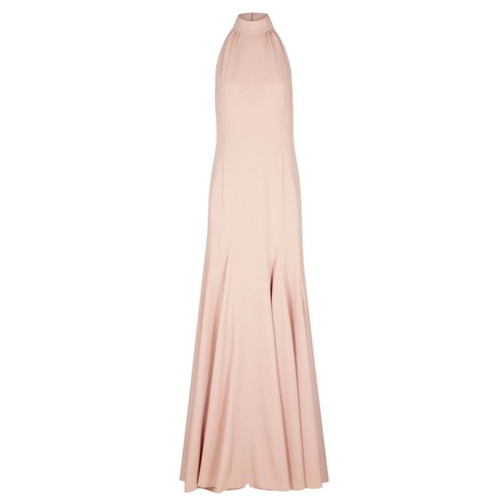 Stella McCartney Meghan Blush Halterneck Gown