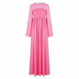 Giambattista Valli Pink Shirred Silk Gown