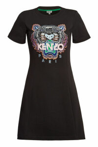 Kenzo Cotton Short Sleeve Sweatshirt Dress