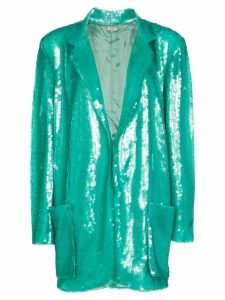 Natasha Zinko longline sequin single-breasted blazer - Green