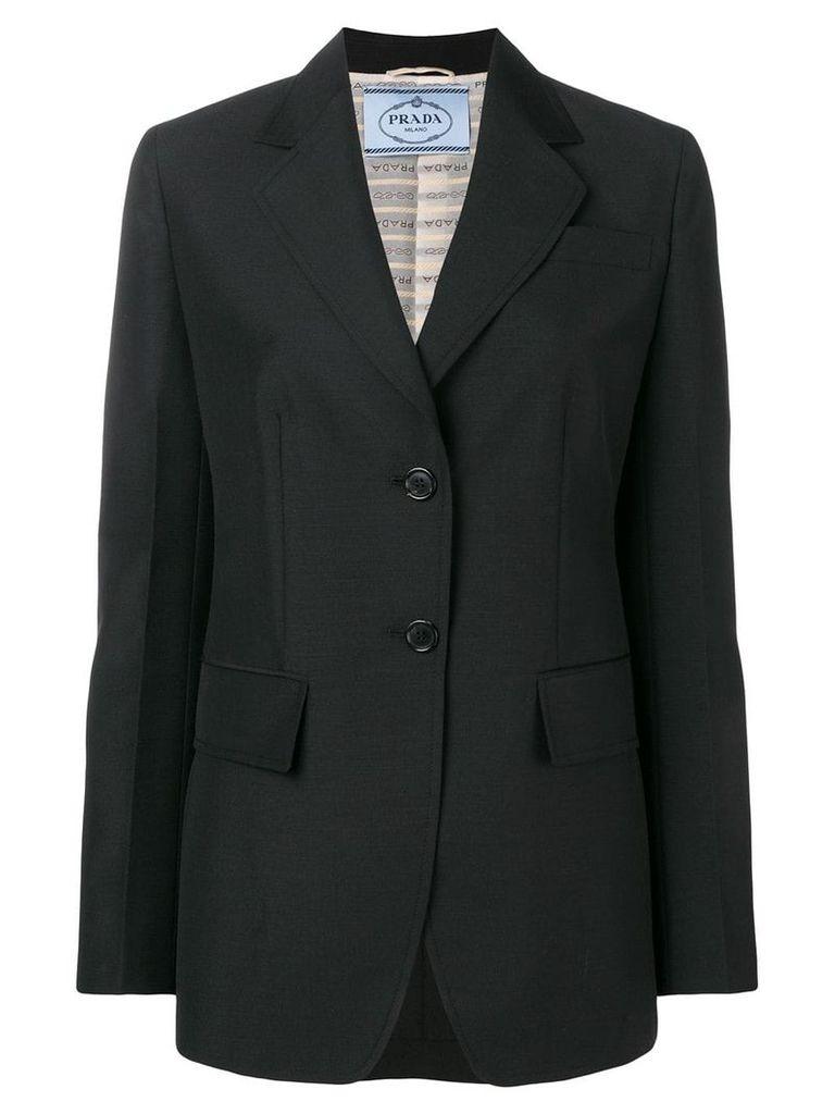 Prada fitted blazer jacket - Black