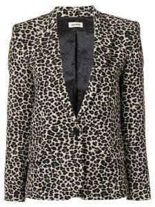 Zadig & Voltaire victor leopard print blazer - Neutrals