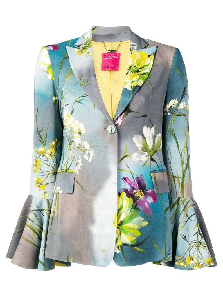 Blumarine floral print blazer - Grey