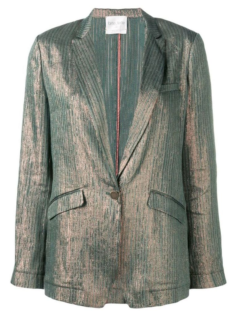 Forte Forte metallic striped blazer - Green