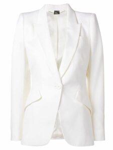 Alexander McQueen single-breasted blazer - White