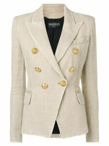 Balmain button-embellished blazer - NEUTRALS